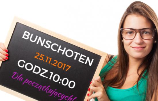 25 listopada o godzinie 10:00 w #Bunschoten zaczynamy kurs dla poczÄ…tkujÄ…cych!
